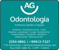 AG ODONTOLOGIA Clínica Odontológica / Cirurgiã Dentista