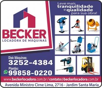 BECKER LOCADORA DE MÁQUINAS AM LOCAÇÕES