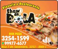SHOW DE BOLA PIZZARIA E RESTAURANTE<br>DISK PIZZA