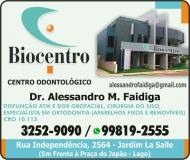 BIOCENTRO CENTRO ODONTOLÓGICO - ODONTOLOGIA Clínica Odontológica / Cirurgião Dentista