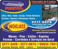 FUNITOL FUNILARIA INOGLASS INDÚSTRIA E COMÉRCIO DE ARTEFATOS EM AÇO INOX