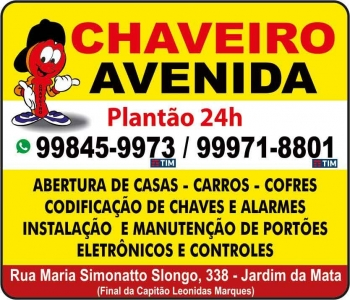 AVENIDA CHAVEIRO E PORTÕES ELETRÔNICOS