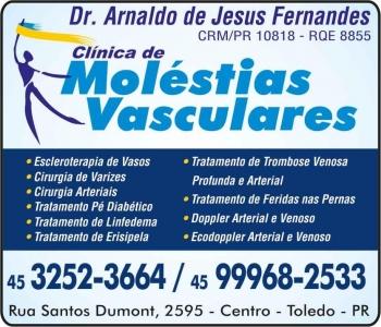 CIRURGIA VASCULAR ARNALDO DE JESUS FERNANDES / CLÍNICA DE MOLÉSTIAS VASCULARES