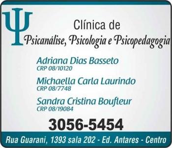 CLÍNICA DE  PSICOLOGIA, PSICANÁLISE E PSICOPEDAGOGIA