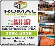 ROMAL MADEIRAS E CONSTRUÇÕES