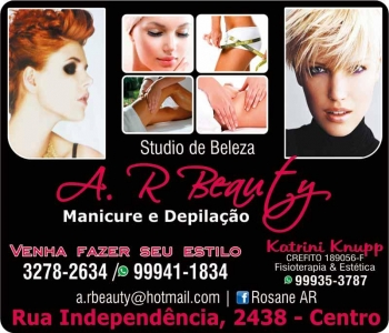 A.R BEAUTY STUDIO DE BELEZA AR SALÃO DE BELEZA