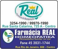 REAL FARMÁCIA DE MANIPULAÇÃO E HOMEOPATIA LABORATÓRIO
