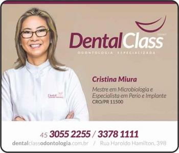 DENTAL CLASS CLÍNICA ODONTOLÓGICA  CRISTINA MIURA Dra. CIRURGIÃ DENTISTA