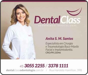 DENTAL CLASS CLÍNICA ODONTOLÓGICA ANITA S. M. SANTOS Dra CIRURGIÃ DENTISTA