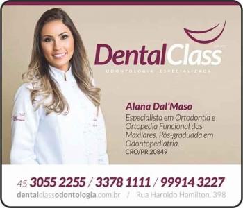 DENTAL CLASS CLÍNICA ODONTOLÓGICA ALANA DAL' MASO Dra. CIRURGIÃ DENTISTA
