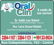 CIRURGIÃO DENTISTA VALDIR L. REFATTI / PRÓTESE DENTÁRIA / ORAL CLIN
