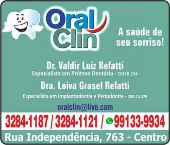CIRURGIÃO DENTISTA VALDIR L. REFATTI / PROTESE DENTÁRIA / ORAL CLIN