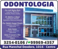ADELMO J. CLASEN Dr. Cirurgião Dentista/Endodontia<br>KELLI REGINA BACH Dra. Cirurgiã Dentista/Ortodontia<br>FABIELLY CASAQUI DONAIRE Dra. Cirurgiã Dentista<br>KELEN SULZLER Dra. Cirurgiã Dentista<br>YOHAN T. LOZOVEI E SILVA Dr. Cirurgião Dentista