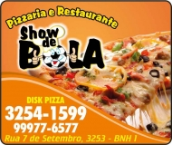 SHOW DE BOLA PIZZARIA E RESTAURANTE<br>DISK PIZZA