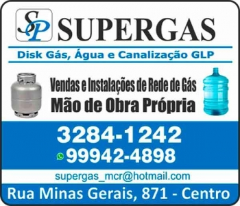 SUPERGAS GÁS / DISK GÁS E ÁGUA MINERAL / SUPERGASBRAS