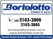 Cartão: BORTOLOTTO FERRO E AÇO DISTRIBUIDORA toledo