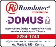RONDOTEC INFORMÁTICA  E INTERNET DOMUS TELECOM
