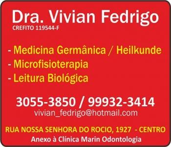 CLÍNICA DE MICROFISIOTERAPIA VIVIAN FEDRIGO Dra. Fisioterapeuta