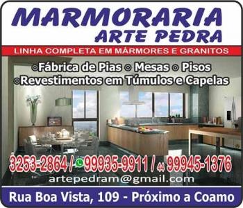 ARTE PEDRA MARMORARIA / MÁRMORES E GRANITOS