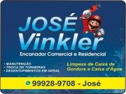 Cartão: JOSÉ VINKLER DISK ENCANADOR