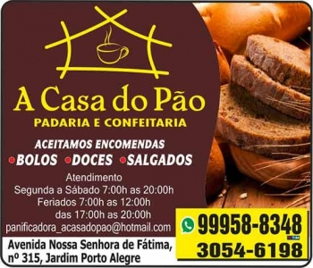 A CASA DO PÃO PANIFICADORA E CONFEITARIA