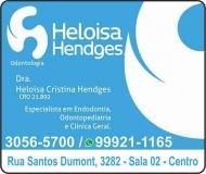 HELOISA CRISTINA HENDGES Dra. CIRURGIÃO DENTISTA CLÍNICA ODONTOLÓGICA