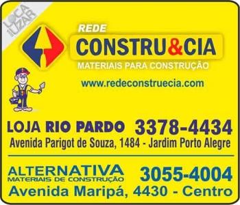CONSTRU&CIA MATERIAIS DE CONSTRUÇÃO FERRAGENS RIO PARDO
