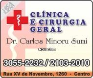 CLÍNICA E CIRURGIA GERAL DR. CARLOS MINORU SUMI