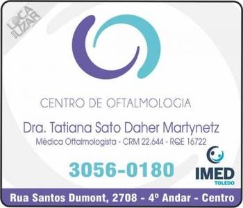 CLÍNICA DE OFTALMOLOGIA TATIANA SATO DAHER MARTYNETZ Dra. Oftalmologista