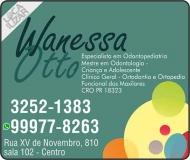 CIRURGIÃO DENTISTA WANESSA BUENO OTTO RETZLAFF / ODONTOPEDIATRA