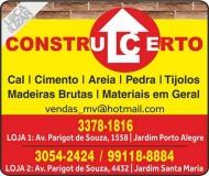 CONSTRUCERTO MATERIAIS DE CONSTRUÇÃO