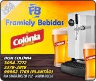 FRAMIELY BEBIDAS / DISTRIBUIDORA DE BEBIDAS / DISK CHOPP COLÔNIA / CARVÃO / GELO