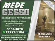 Cartão: MEDE GESSO DECORAÇÕES EM GESSO