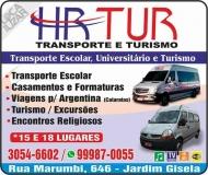 HR TUR TRANSPORTE ESCOLAR UNIVERSITÁRIO E TURISMO
