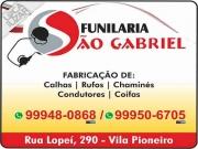 Cartão: SÃO GABRIEL FUNILARIA E METALÚRGICA