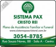 SISTEMA PAX CRISTO REI  PLANO DE ASSISTÊNCIA FAMILIAR E FUNERAL / CARTÃO SAÚDE