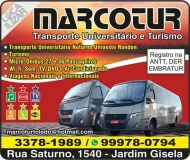 MARCOTUR TRANSPORTE UNIVERSITÁRIO E TURISMO