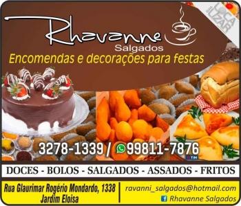 RHAVANNE SALGADOS / BOLOS / DOCES