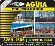 ÁGUIA PRÉ-MOLDADOS / METALÚRGICA / LOCAÇÃO DE CAMINHÃO MUNCK
