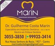 MARIN CLÍNICA ODONTOLÓGICA CIRURGIÃO DENTISTA Dr. GUILHERME COSTA MARIN