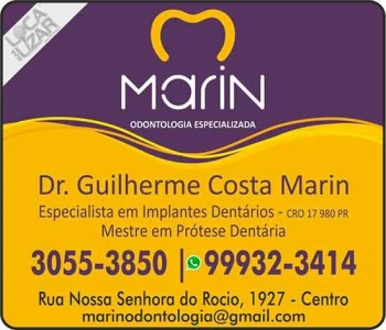 CIRURGIÃO DENTISTA GUILHERME COSTA MARIN / IMPLANTODONTISTA