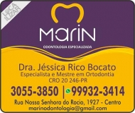 CIRURGIÃO DENTISTA JÉSSICA RICO BOCATO / ORTODONTISTA / MARIN