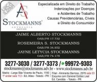 ADVOCACIA JAIME ALBERTO STOCKMANNS / DIREITO TRABALHISTA E PROCESSUAL CÍVEL  / STOCKMANNS