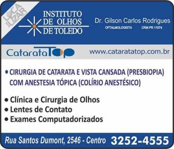 CLÍNICA DE OFTALMOLOGIA INSTITUTO DE OLHOS TOLEDO