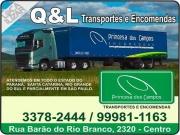Cartão: Q & L PRINCESA DOS CAMPOS TRANSPORTES E ENCOMENDAS