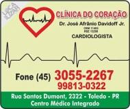 CLÍNICA DE CARDIOLOGIA JOSÉ AFRÂNIO DAVIDOFF JUNIOR / CARDIOLOGISTA / CLÍNICA DO CORAÇÃO