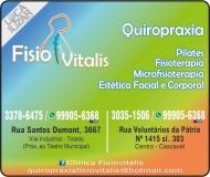 FISIOVITALIS CLÍNICA DE QUIROPRAXIA FISIOTERAPIA E ESTÉTICA