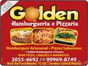 Cartão: GOLDEN HAMBURGUERIA PIZZARIA E DISK MARMITEX