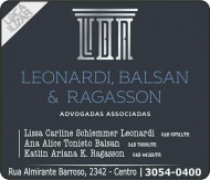 ADVOCACIA LISSA CARLINE SCHLEMMER LEONARDI / DIREITO CÍVEL / LEONARDI BALSAN E RAGASSON