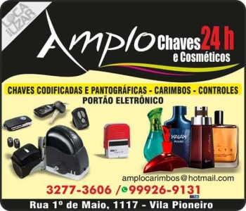 AMPLO CHAVEIRO CARIMBOS E COSMÉTICOS